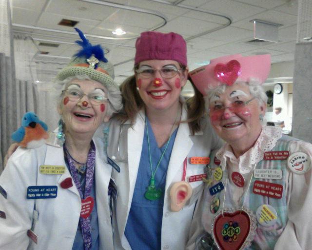 DR Clowns having fun.