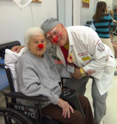Happy DR Clown and patient.